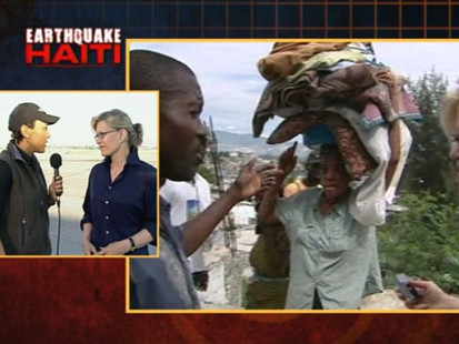 VIDEO: Diane Sawyer says that Haitians are frustrated over the delayed relief efforts.