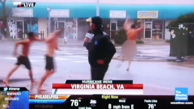 """GMA"" team checks out exactly what some reporters do to cover a hurricane."