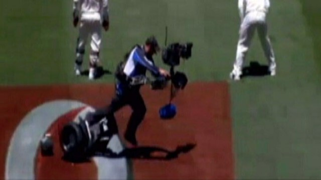 VIDEO: Cameraman on Segway Crashes During Cricket Match