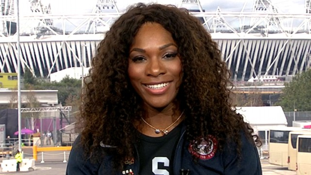 VIDEO: Tennis star chats about winning gold with her sister, Venus, in womens doubles.