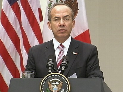 VIDEO: Arizona immigration law dominates discussions with Mexican president.
