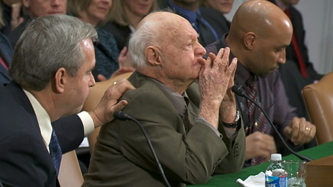 VIDEO: The actor, 90, testifies before a Congressional panel on elder abuse.