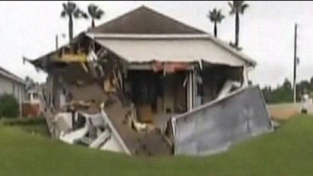 VIDEO: Susan Minutillo, 79, returned from errands to find half her house gone.