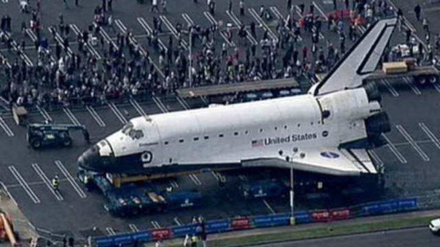 VIDEO: Brandi Hitt follows the famous shuttle as it reaches end of retirement tour.