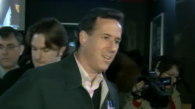 VOICE: Former Pennsylvania senator discusses his surging campaign before Iowa caucuses.