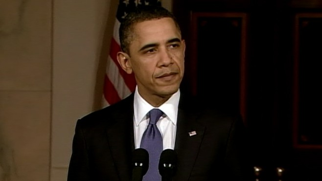 President Obama condemns the violence in Libya and says U.S. prepared to act.