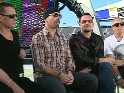 VIDEO: Cameron Mathison goes backs stage with U2.