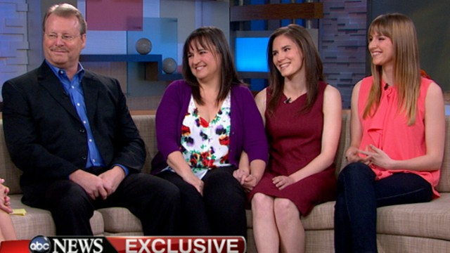 """VIDEO: Woman once jailed in Italy for the murder of her college roommate joins her family on """"GMA."""""""