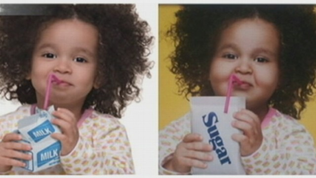 VIDEO: Anti-obesity campaign is under fire after designers digitally altered images to fatten kids.