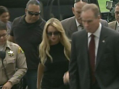 VIDEO: The troubled starlet was released early from the UCLA substance abuse facility.