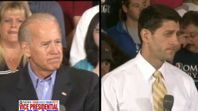 VIDEO: The vice presidential candidates will square off in their only debate of the 2012 election.