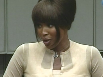 VIDEO: Model testifies in the war crimes trial of past Liberian leader Charles Taylor.