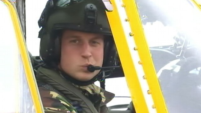 VIDEO: British royal risks high wind, waves to make daring chopper rescue at sea.