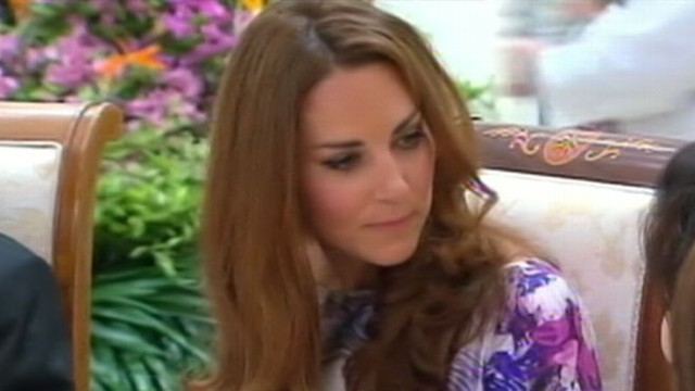 VIDEO: The Duchess of Cambridge raised eyebrows when she made a toast with water instead of wine.