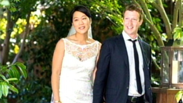 VIDEO: Facebook founder marries longtime girlfriend after becoming multi-billionaire.