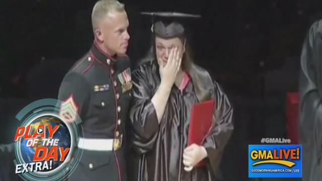 VIDEO: Marine Surprises Sister at Graduation