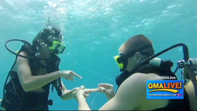 VIDEO: Treasure Hunt Leads to Underwater Proposal