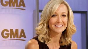 PHOTO:Lara Spencer on the set of GMA.