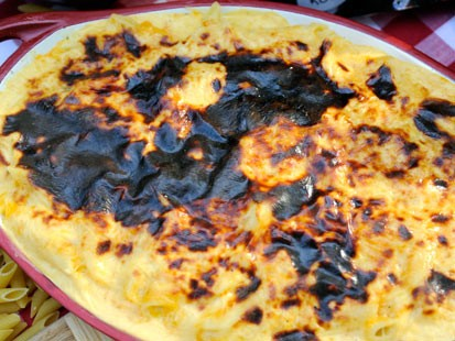 PHOTO:??Elizabeth Karmels Pit-Smoked Longhorn Cheddar Mac & Cheese