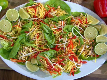 PHOTO: Carol Alt?s Thai-style mango salad is shown here.