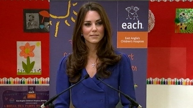 VIDEO: Kate Middletonn gives first public speech at a childrens hospice in Ipswich, England.