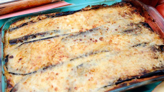 PHOTO:Rachael Ray's Sock-It-To-Me Moussaka Lasagna is shown.