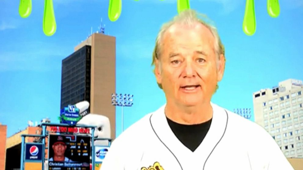 The actor does an impression of famed baseball announcer Harry Caray in ad for Toledo Mud Hens.