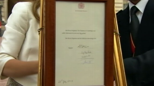 VIDEO: The Duke and Duchess of Cambridge's firstborn is the third in line to the British throne.