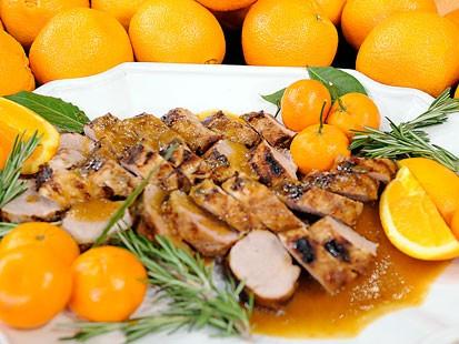 Orange glazed pork Paula Deen