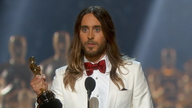VIDEO: Jared Letos Oscar acceptance speech.