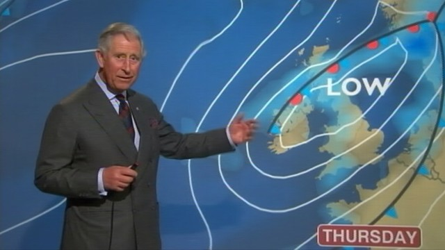 VIDEO: Watch what happens when Prince Charles takes over a weather segment on the BBC.