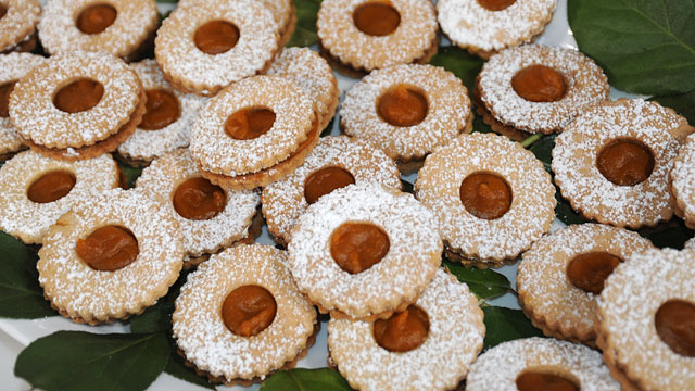 "PHOTO: Carla Hall's pumpkin linzer cookies on ""Good Morning America."""