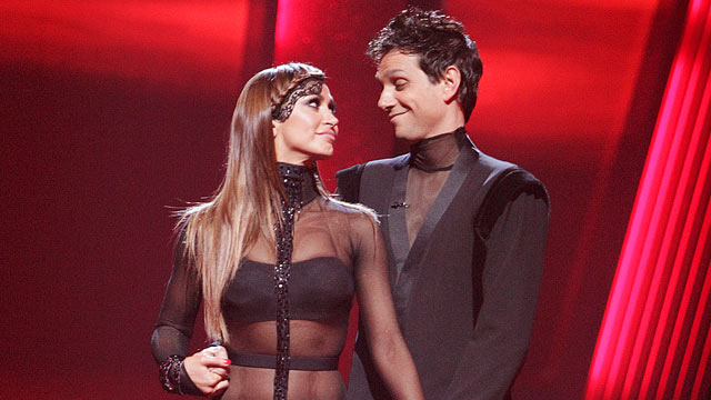 "PHOTO: Karina Smirnoff and Ralph Macchio are shown on ""Dancing with the Stars."""