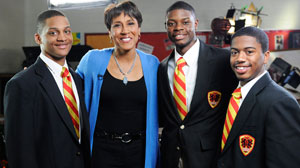 "To show ""GMA"" viewers what inspires her, anchor Robin Roberts headed to Chicagos Urban Prep Academy."