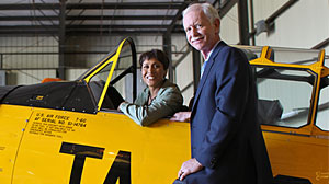 Photo: Robin Roberts with Chesley Sullenberger