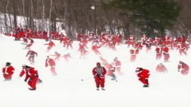 210 Santas Take to the Slopes