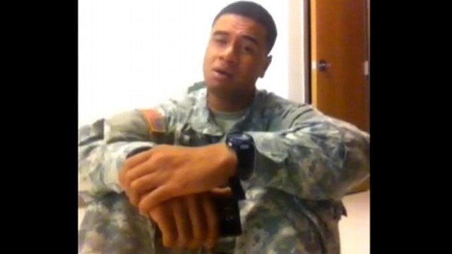 VIDEO: Pfc. Paul Ieti, stationed in Afghanistan, belts out songs by Etta James and Rihanna.