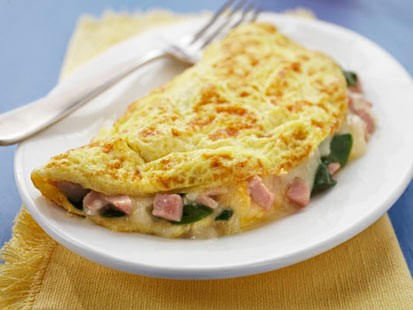 PHOTO Spinach, Ham & Cheese Omelet