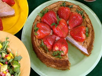 Diane Henderiks strawberry-tofu cheesecake is shown.