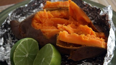 "PHOTO: Stephanie O'Dea prepared simply delicious sweet potatoes for ""Good Morning America."""