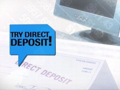 VIDEO: Get your income tax return in half the time with direct deposit.
