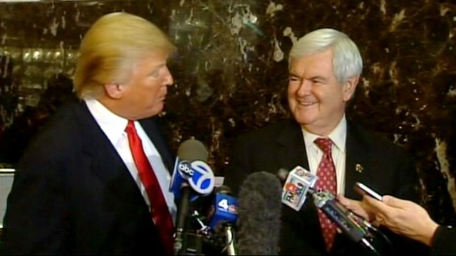 VIDEO: Newt Gingrich Meets with Donald Trump