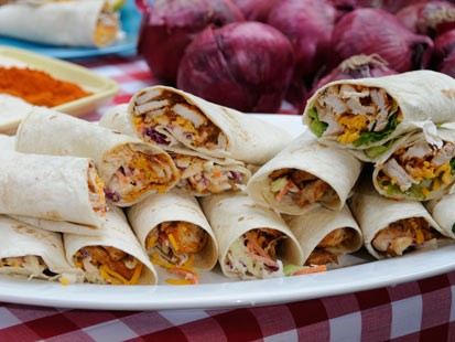 Emmitt Smiths Texas BBQ Pork Tortilla Wrap