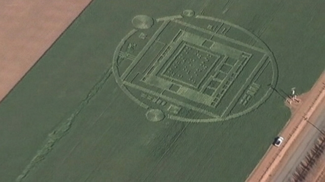 VIDEO: An elaborate formation in a Salinas field has led to talk about UFOs.