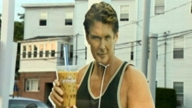 VIDEO: A Connecticut man admitted his role in convenience store heist of a cutout advertisement featuring David Hasselhoff.