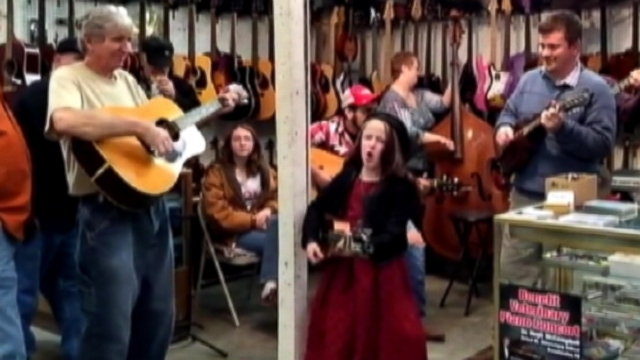 Emi Sunshine, 9, of Madisonville, Tenn., has gone viral for her talented country blues covers.