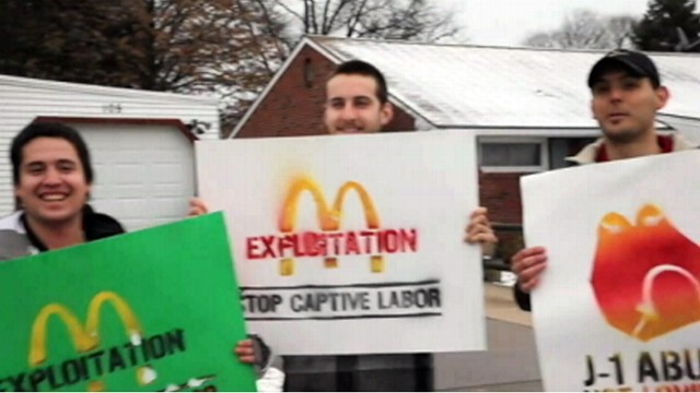 VIDEO: Jorge Rios of Argentina says he was exploited while working at a Pennsylvania McDonalds.