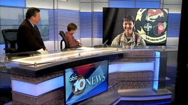 VIDEO: KGTV reunited Sean Greene via satellite with his Marine mom whos serving in Afghanistan.
