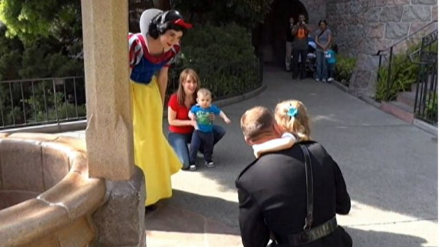VIDEO: Alyssa Brown was reunited with her father after making a wish at Californias Disneyland.