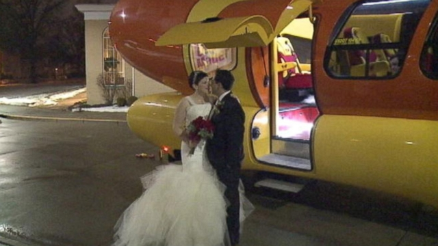 Erin and Jason Pratt of Iowa turned heads in their unusual ride.